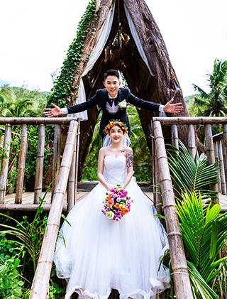 婚纱照客片-潘先生和梁女士_三亚婚纱摄影主题婚纱照