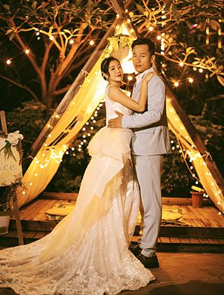 姜先生和田女士的三亚婚纱照_三亚婚纱摄影主题婚纱照